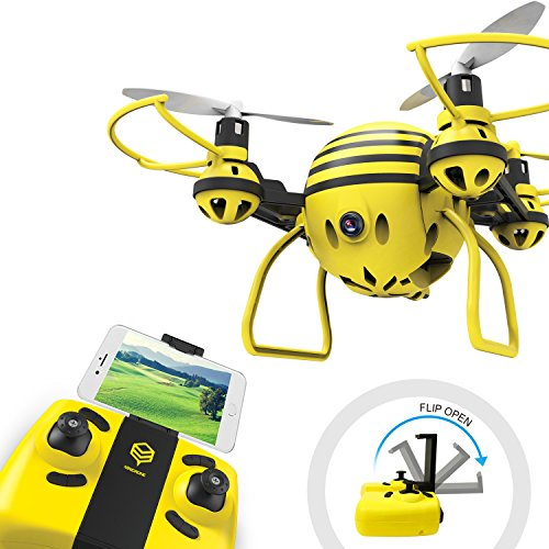 HASAKEE FPV RC Drone with HD WiFi Camera Live Video RC Quadcopter with Altitude Hold,APP Control,Headless Mode and One Key Return,Mini Quadcopter Drone for Kids and Beginners