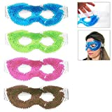 Gel Eye Mask Cold Pack Warm Hot Heat Ice Cool Thermabead Soothing Tired Eyes Pad