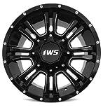 18x9 IWS 5007 Black Wheel 5x127mm - (-12mm) Offset