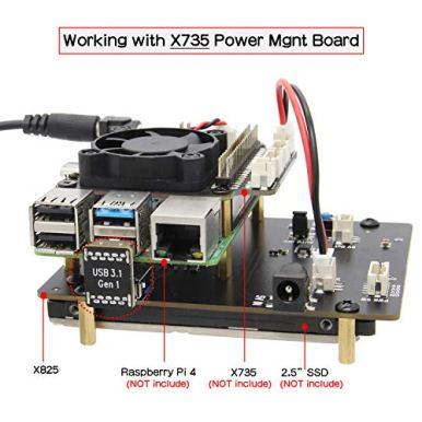 Geekworm-Raspberry-Pi-4-SATA-Storage-Raspberry-Pi-4-Model-B-25-inch-SATA-HDDSSD-Expansion-Board-X825-USB30-Shield-Compatible-with-Raspberry-Pi-4B-Only
