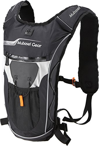 Hydration Backpack with 2L BPA FREE Bladder - Keeps Liquid Cool Up to 4 Hours - Great for Outdoor Sports of Running Hiking Camping Cycling Skiing