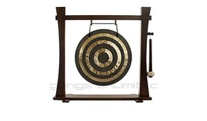 """Traditional 22"""" (55 cm) Bronze Chinese Solar Flare/Sun Gong on ..."""