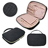 Juniper Aspen Travel Jewelry Organizer: Jewelry Case for Traveling Storage, Travel Jewelry Roll, Portable Small Black Necklace, Ring, Earring, and Bracelet Case, Jewlery Box for Travel