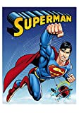 "The Man of Steel ""Planet Universe"" Supeman Luxury Plush Blanket 60″x80″ Twin Size"