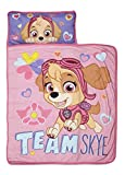 Paw Patrol Team Skye Nap Mat Set - Includes Pillow and Fleece Blanket - Great for Boys and Girls Napping at Daycare, Preschool, or Kindergarten - Fits Sleeping Toddlers and Young Children