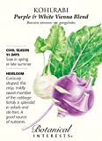 Purple & White Vienna Blend Kohlrabi Seeds - 2 grams - Botanical Interests