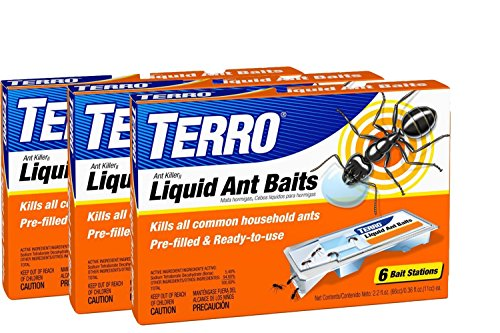 TERRO PreFilled Liquid Ant Killer II Baits, 3-Packs of 6 Baits Each
