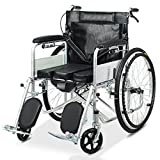 Canes- Multifunctional Wheelchair Foldable Portable Nursing Wheelchair Disabled Manual Electric Dual-Purpose Wheelchair (Color : C)