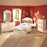 Product review for South Shore Summer Breeze Kids Twin Wood Bookcase Bed 3 Piece Bedroom Set in Vanilla Cream