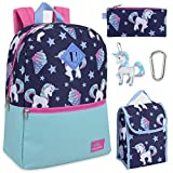Trailmaker 5 in 1 Full Size Character School Backpack and Lunch Bag Set For Girls