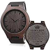 Engraved Watches for Son - Engraved'to My Son Love Mom' -Unique Gift from Mom to Sons Watch Graduation Gift