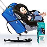 CAR SEAT STRAP- Turn your CarSeat and Carry-On Luggage into an Airport Stroller - Best for Easy, Stress-Free Travel with Baby and Toddlers.