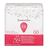 Summer's Eve Cleansing Cloths | Sheer Floral|16 Count | Pack of 3 | pH-Balanced, Dermatologist & Gynecologist Tested