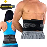 BodyMoves Back Brace Lumbar Support (Regular Size) for Men and Women Dual Adjustable Straps & Extension Belt -Lower Back Pain Relief,Spasm,Strain,Herniated Disc,Sciatica,Lifting,Better Back