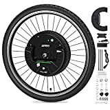 GRM 26'x1.95' Imortor 3rd GEN Wireless APP Control Mountain Bike Front Wheel Disc Brake Electric Bicycle Motor Kit 36V 350W Powerful Motor E-Bike Conversion for Android and iOS,All Bluetooth Versions