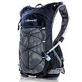 Vibrelli Hydration Pack & 2L Hydration Bladder - High Flow Bite Valve Hydration Backpack - Black
