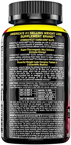 Hydroxycut Hardcore Elite Weight Loss Supplement, Designed for Hardcore Weight Loss, Energy & Enhanced Focus, 50 Servings (100 Pills) 4