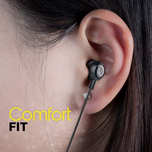 Infinity Zip 20 in-Ear Deep Bass Headphones with Mic (Charcoal Black)