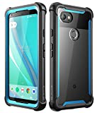 Google Pixel 2 XL case, i-Blason [Ares] Full-body Rugged Clear Bumper Case with Built-in Screen Protector for Google Pixel 2 XL 2017 Release (Black/Blue)