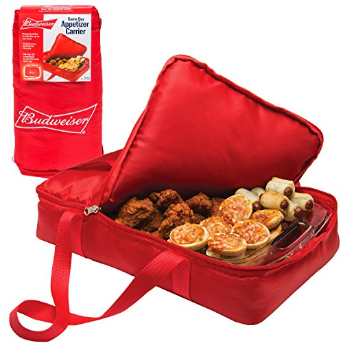 Budweiser Insulated Casserole Carrier- Game Day Tailgating Appetizer Carrier - (11
