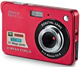 AbergBest 21 Mega Pixels 2.7' LCD Rechargeable HD Digital Camera Video Camera Digital Students Cameras,Indoor Outdoor for Adult/Seniors/Kid (Red)