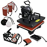 F2C Pro 6 in 1 Combo Heat Press Machine T-Shirt Hat Cap Mug Plate...