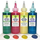 Go Green Finger Paint - Organic, Edible, All Natural, Dye Free, Gluten Free, 4 color Finger Paint kit, Safe Even for Toddlers that put Their Fingers in Their Mouth, Perfect for a Summer Activities
