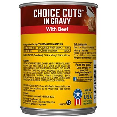 PEDIGREE-CHOICE-CUTS-IN-GRAVY-Adult-Canned-Wet-Dog-Food-132-oz-Pack-of-12