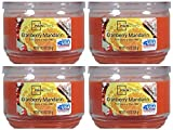 Mainstays 11.5oz Scented Candle, Cranberry Mandarin 4-pack
