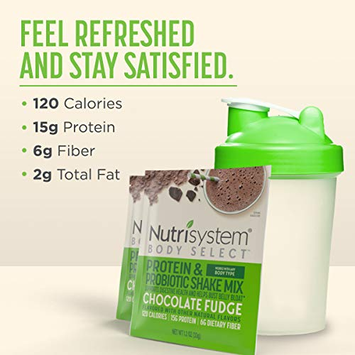 Nutrisystem® Body Select™ Chocolate Fudge Protein & Probiotic Shakes, 20ct, Delicious Shakes that Bust Belly Bloat* and Support Digestion 6