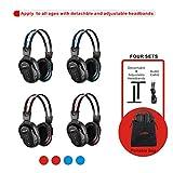4 Pack of DVD Wireless Headphones, Car Kids Headphones, IR Headphones for Car Entertainment System, Wireless IR Headphones with Dual Channel