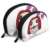 Eratdatd Lovely Female Voodoo Doll Shell Portable Zipper Bag 2 Bags, Suitable for Women Cosmetics, Handbags/Handbags, Women Accessories.