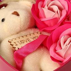 HOMOKART-Artificial-Heart-Shape-Gift-Box-And-Teddy-Rose-Red-1-Teddy-3-Fragrant-Rose-Bud-Petal-Soap-1-Heart-Shape-Tin-Box-1-Heart-Tag