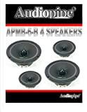 Audiopipe (4) APMB-6 6.5' 6' CAR Audio Loud Speaker Pair Low MID Range DJ