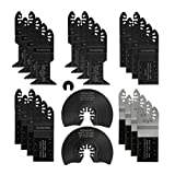 WORKPRO 23-piece Oscillating Saw Blades Kit, Multitool Quick Release Saw Blades Fit Porter Cable Black & Decker Rockwell Ridgid Ryobi Milwaukee DeWalt Chicago Craftsman