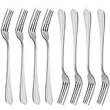 Dinner Forks, MCIRCO 18/10 Heavy-duty Stainless Steel Dinner Forks Set of 8, 8 Inches