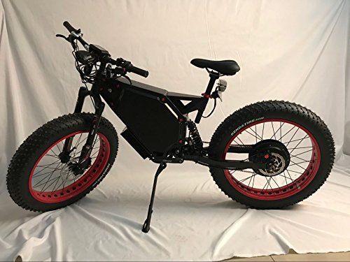 2018's Latest 5000W snow/beach offroad fat tire E-bike