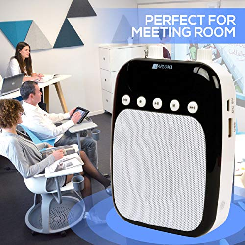 Laploma-Portable-Loudspeaker-With-Microphone-And-Digital-Display-SD-Card-USB-AUX-Cable-Support-White