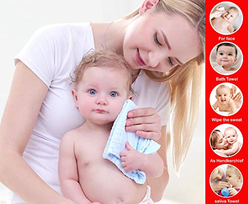 51We6KfRkAL Billy Bum Washcloth for New Born 100% Hosiery Cotton/Reusable Further Tender Face Towels washcloth for Infants (7 items) Shade might range (Pack of 1)
