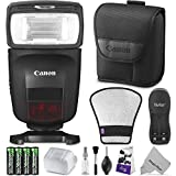 Canon Speedlite 470EX-AI w/Essential Photo Bundle - Includes: Altura Photo Flash Diffuser Reflector, AA Rechargeable Batteries w/Charger
