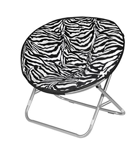 Urban Shop Zebra Faux Fur Saucer Chair