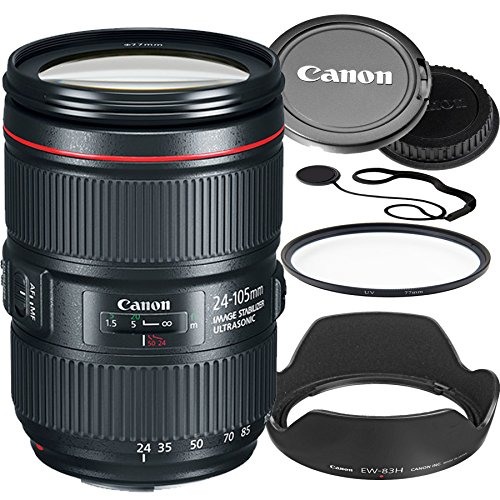 Canon 24–105mm f/4L IS II USM Lens (White Box) Bundle