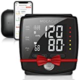 MOCACuff Bluetooth Blood Pressure Monitor, Wireless Automatic Blood Pressure Wrist Cuff [Portable] with Protector Case and Tracking App for Apple and Android (Black)