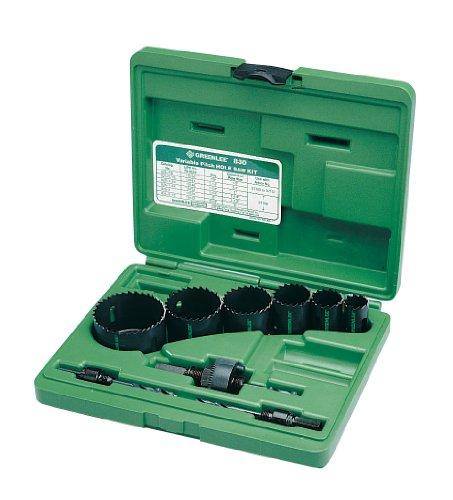 Greenlee 830 Bi-Metal Hole Saw Kit, Conduit Sizes 7/8' to 2-1/2'