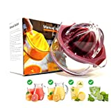 Lemon Squeezer, Orange Juice Squeezer, Lemon Juicer, Citrus & Lime Manual Hand Juice Squeezer, with Double-size Pressed Reamers and Built-in Measuring Cup