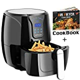 VPCOK 3.7-Quart XL Air Fryer with Recipes, 6 Cooking Presets, 1300 Watt, Power Air Fryer XL