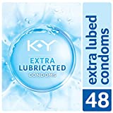 K-Y Extra Lubricated Latex Condoms (48cnt), Discreetly Packaged With Extra Lubrication For Comfort & Smoothness, Natural Fit For Him & Ultra Thin