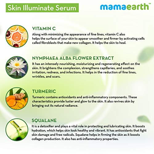 51Wp281Hd L Mamaearth Skin Illuminate Vitamin C Serum For Radiant Skin with High Potency Vitamin C & Turmeric 30 g