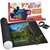 Puzzle Roll Up Mat - Store and Transport Jigsaw Puzzles Up to 1500 Pieces - 46' x 26' Felt Mat, Inflatable Tube, and 3 Elastic Fasteners - Plus Bonus Pump - by Nessies's Playground