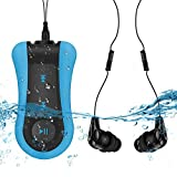AGPTEK Waterproof MP3 Player 8GB with Clip, S12 Comes IPX8 Underwater Headphone for Running, Swimming